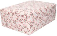 Bellatio Decorations Inpakpapier/cadeaupapier bloemen met hartjes print 200 x 70 cm rollen - Verjaardag kadopapier / cadeaupapier