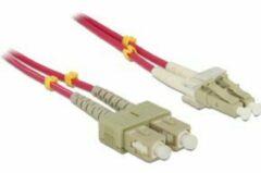 DeLOCK LC - SC, 3m 3m LC SC Violet Glasvezel kabel
