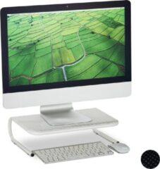 Relaxdays monitor verhoger - beeldscherm standaard - monitorstandaard - metaal - 10.5 cm wit