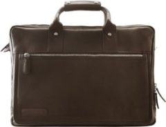 270er Serie Aktentasche Leder 44 cm Laptopfach Plevier dunkelbraun
