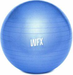#DoYourFitness Gymnastiek Bal - »Orion« - zitbal en fitness bal ter ondersteuning van lichaamshouding, coördinatie en balans - Maat : 75 cm - blauw