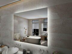 Viidako – LED Rechthoekige Badkamerspiegel – Anti Condens – 3 LED verlichting standen – Hip Design – Krasbestendig