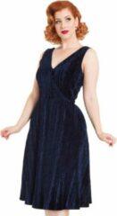 Voodoo Vixen Korte jurk -M- Millicent Velvet Blauw