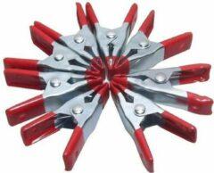 Rode 24Wonen Zeilklemmen- marktklemmen- lijmklemmen- 12 stuks