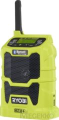 Groene Ryobi R18R-0 One+ Workplace radio FM Bluetooth, USB, AUX Light green
