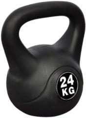 Zwarte VidaXL Kettlebell met kunststof mantel 24kg