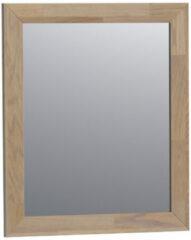 Saniclass Natural Wood spiegel 60x70x1.8cm rechthoek vingerlas zonder verlichting Grey oak 30060