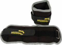 Pols enkelgewichten 2 x 0,5 kg - Mambo Max | Grijs - Zwart