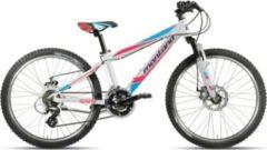 Montana Bike 24 ZOLL MONTANA SPIDY JUNGEN MOUNTAINBIKE ALUMINIUM 21 GANG Kinder weiß-lila