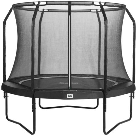Afbeelding van Salta Premium Black Edition trampoline rond met veiligheidsnet - 183 cm - zwart