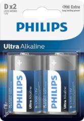Blauwe Philips batterijen D/LR20 Ultra Alkaline 2 stuks