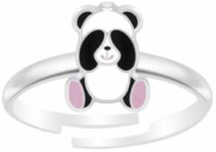 Roze La Rosa Princesa - Cute Panda Ring - Zilver
