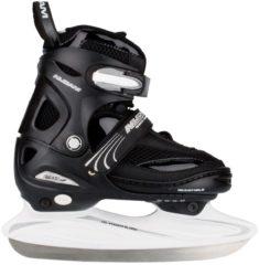 Zwarte Nijdam 3150 Junior IJshockeyschaats - Verstelbaar - Semi-Softboot - Zwart/Wit - Maat 38-41