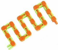 Fidget Toy Fidget Ketting Junior 27,5 Cm Groen/oranje