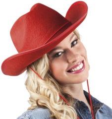 Generik Rode cowboy hoed voor volwassenen - Verkleedhoofddeksel