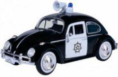 Motor Max Volkswagen Kever Police 1-24 Zwart / Wit Motormax