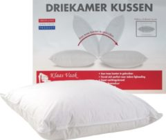 Klaas Vaak Driekamer Kussen - Eendendons en veren - 60x70 cm - Wit