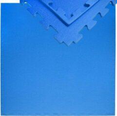 Blauwe Eyepower 12mm dikke vloerbeschermingsmat 90x90cm trainingsmat Yoga-PuzzleMat uitbreidbaar