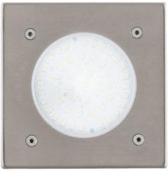 Grijze EGLO Lamedo - Buitenverlichting - Grondinbouwlamp - 1 Lichts - LED - RVS - Wit