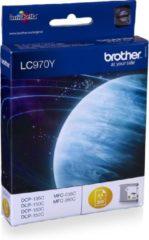 Gele Brother LC-970Y - Inktcartridge / Geel