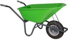 Kruiwagenwinkel.nl Kruiwagen gecoat 100 liter lime groen - Binnenband