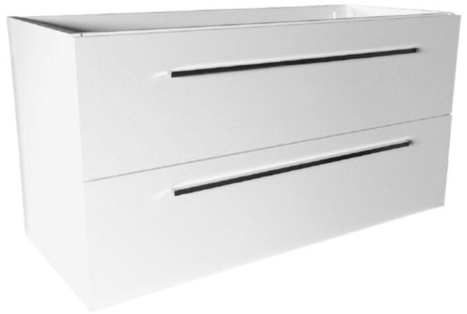 Afbeelding van Best-design onderkast slim zonder-wastafel 120 cm (ondiep) 35 cm glans-wit