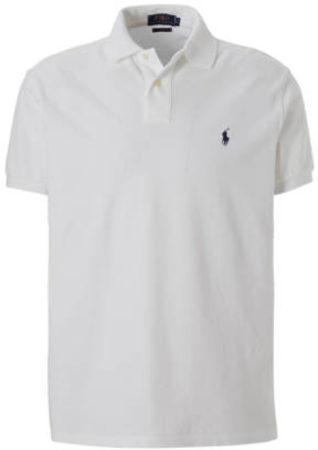 Afbeelding van Witte Ralph Lauren Custom slim fit polo met logoborduring
