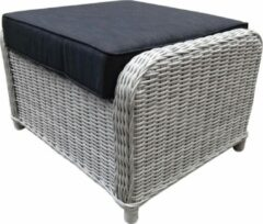 AVH-Collectie Toscane XL voetenbank 72x58xH46 cm wit grijs