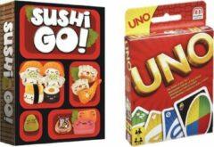 Mattel Spelvoordeelset Sushi Go & Uno - Kaartspel