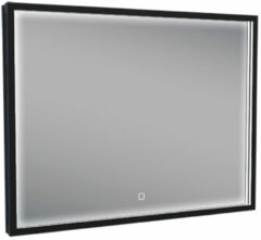 Mueller Square LED spiegel 80x60cm mat zwart met spiegelverwarming