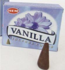 Blauwe Hem Wierook kegeltjes Vanille