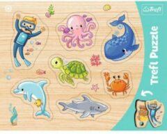 Lichtblauwe Trefl Puzzels - Vorm puzzel - Thema: Onderwater Wereld - Leeftijd: 3 jaar