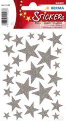 HERMA 15128 sticker Folie Zilver Permanent 27 stuk(s)