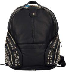 Coleos Business Rucksack Leder 36 cm Laptopfach Piquadro schwarz