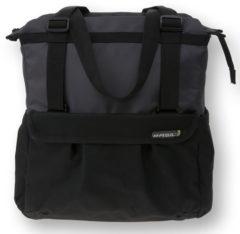 Zwarte Basily Basil Shopper XL - Enkele Fietstas - 20 l - Zwart / Antraciet