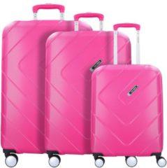 Rosa Kalisto 4-Rollen Kofferset 3tlg. Travelite pink