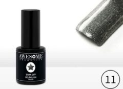 Antraciet-grijze Awesome #11 Grijs met fijne glitter Gelpolish - Gellak - Gel nagellak - UV & LED