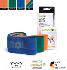 Blauwe WeerstandsBanden Blackroll Loop Band Set Trainingsbanden - 3 rubberen Fitnessbanden