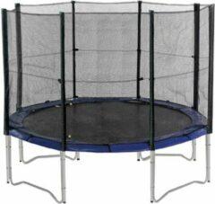 Zwarte AIRJUMP Universeel Veiligheidsnet voor trampolines 420-430 cm met 4 poten