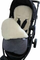 Grijze By Vicky - Voetenzak winter - 100% schapenwol en waterdicht - ideaal voor kinderwagen of buggy - kinderdeken - babydeken - grey melange