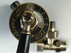 Merkloos / Sans marque Antieke radiatorkraan Paris met voetventiel en ontluchter. Antiek Brons , aansluiting 1/2¨x 1/2¨ . Ideaal voor klassieke en gietijzeren radiatoren.