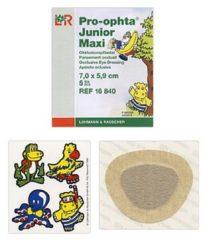 Pro Ophta Occlusiepleister maxi 7 x 5.9 cm 5 Stuks
