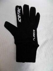 Fleece handschoenen Icetec zwart maat XL