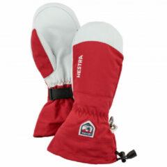 Hestra - Army Leather Heli Ski Mitt - Handschoenen maat 7, rood/grijs