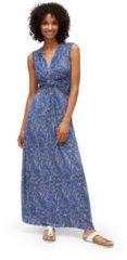 TOM TAILOR TOM TAILOR Damen Maxi-Kleid mit Knoten-Detail, Damen, deep ultramarine blue, Größe: 44, blau, , Gr.44