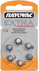 Rayovac Extra Advanced hoorbatterijen Zinc-Air 13A - 6 stuks