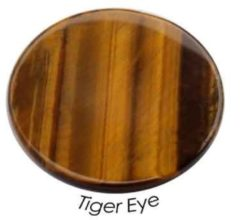 Quoins QMN-L-TO Disk Precious Tiger Eye Large