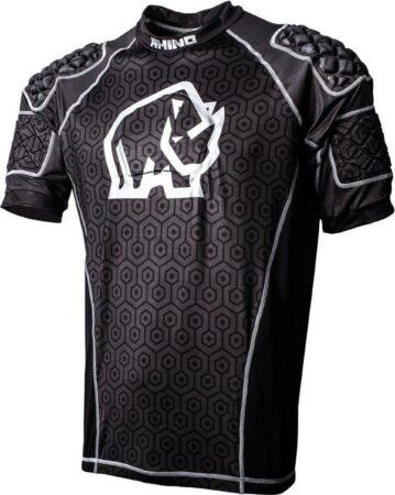 Afbeelding van Rhino Sportshirt Pro Body Jongens Polyester/elastaan Zwart Maat L