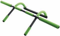 Schildkrot Fitness Schildkröt Fitness Optrekstang - Deur Pull-Up Bar Met Diverse Functies - Staal - Groen/Antraciet