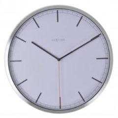 Witte NeXtime Company - Klok - Stil Uurwerk - Rond - Aluminium - Ø35 cm - Wit